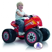 Injusa Electric Ride on Kids Flames Giant Quad Bike - 6v